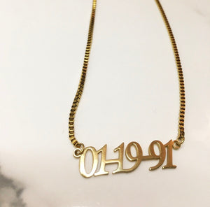 It's A Date! Necklace - The Glam Goddess Shop