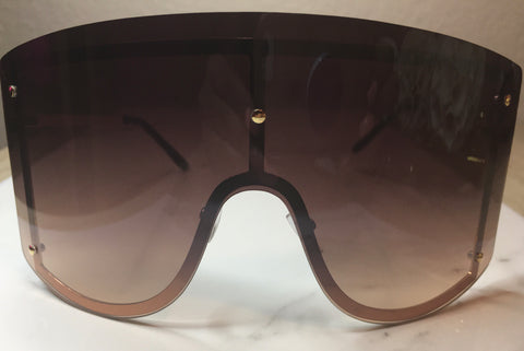 FIYAH Shades - Black/Brown - The Glam Goddess Shop