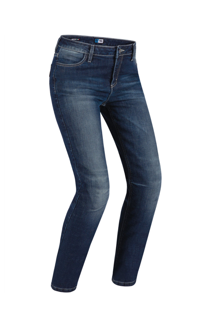 PMJ New rider woman Pantaloni in cotone blu