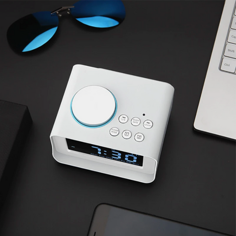 """alt=""""Bright Display LCD Clock from TimeZZ™ New LCD Alarm Clock with Bluetooth Stereo Speaker FM Radio USB Charging Temperature Display AUX/TF Card Support"""""""