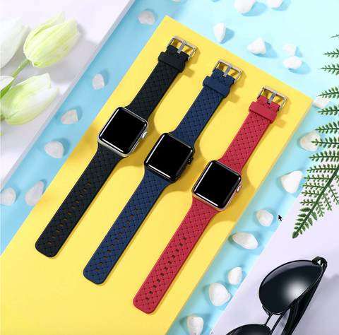 """alt=""""Darker shades of PastelO New Silicone Sport Band Strap for Apple Watch"""""""