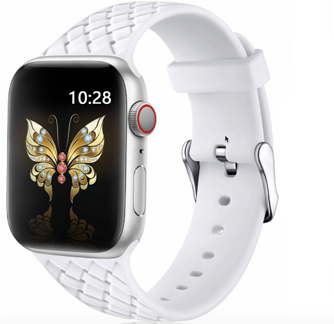 """alt=""""The White PastelO™ New Silicone Sport Band Strap for Apple Watch"""""""