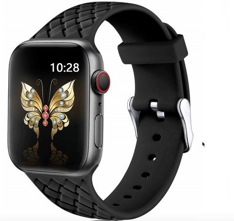 """alt=""""The Black PastelO New Silicone Sport Band Strap for Apple Watch"""""""