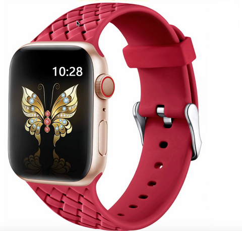 """alt=""""The Red PastelO™ New Silicone Sport Band Strap for Apple Watch"""""""