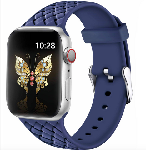 """alt=""""The Midnight Blue PastelO™ New Silicone Sport Band Strap for Apple Watch"""""""