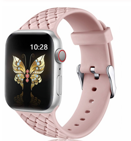 """alt=""""The Rose Pink PastelO™ New Silicone Sport Band Strap for Apple Watch"""""""