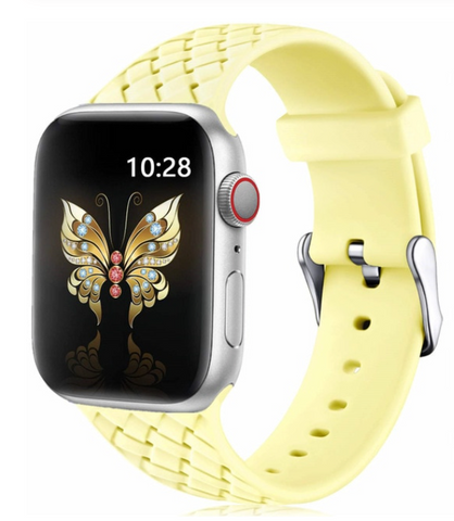 """alt=""""The Yellow PastelO™ New Silicone Sport Band Strap for Apple Watch"""""""