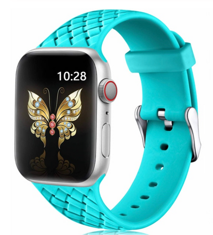 """alt=""""The Turquoise Blue/Green PastelO™ New Silicone Sport Band Strap for Apple Watch"""""""