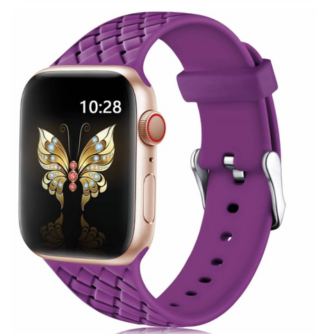 """alt=""""The Purple PastelO™ New Silicone Sport Band Strap for Apple Watch"""""""
