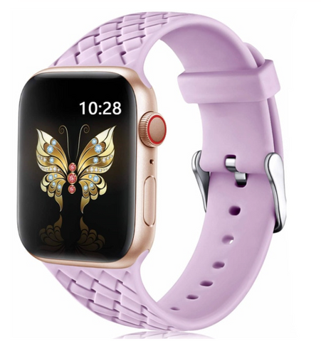 """alt=""""The Lilac PastelO™ New Silicone Sport Band Strap for Apple Watch"""""""