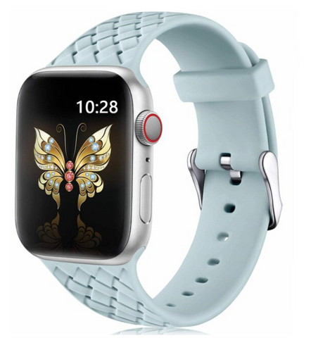 """alt=""""The Pastel Green PastelO™ New Silicone Sport Band Strap for Apple Watch"""""""