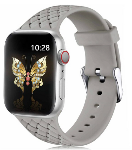 """alt=""""The Gray PastelO™ New Silicone Sport Band Strap for Apple Watch"""""""