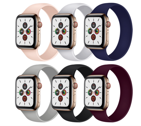 """alt=""""UnoLoop Solo Loop Silicone Elastic Band Strap for Apple Watch Series SE 6 5 4 3 2 1"""""""