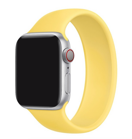"""alt=""""Ginger Yellow UnoLoop Solo Loop Silicone Elastic Band Strap for Apple Watch Series SE 6 5 4 3 2 1"""""""