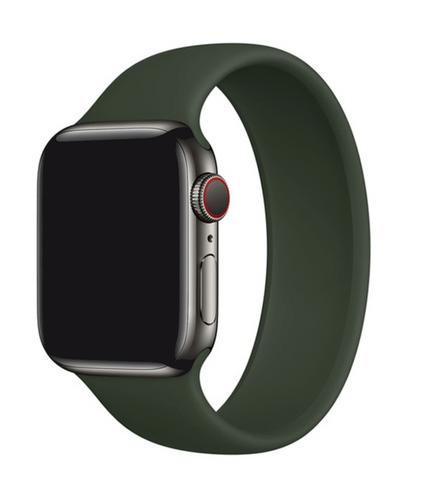 """alt=""""Cyprus/Army Green UnoLoop Solo Loop Silicone Elastic Band Strap for Apple Watch Series SE 6 5 4 3 2 1"""""""