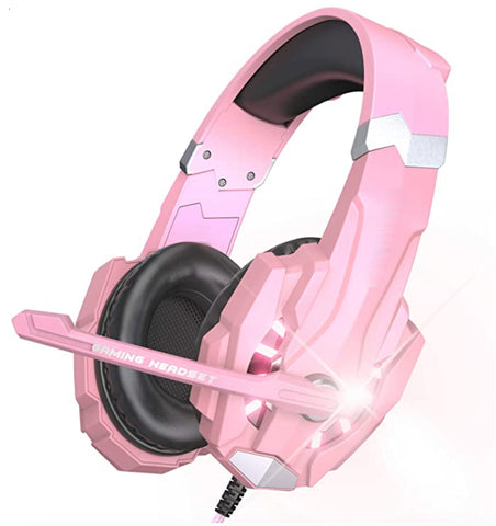 """alt=""""The Pink RhythmAir™ Stereo Gaming Headset with Mic Noise Cancellation"""""""