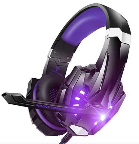 """alt=""""The Purple RhythmAir™ Stereo Gaming Headset with Mic Noise Cancellation"""""""
