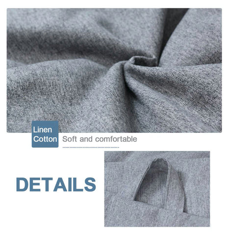 """alt=""""Linen fabric used in GigaBean Linen Fabric Bean Bag Chair for Adults & Kids"""""""