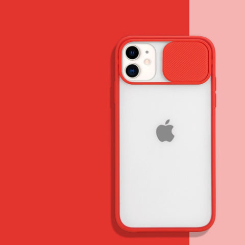 """alt=""""Red PastelO TPU Case with Lens Protection for iPhone 6 6S Plus 7 8 X XS Max XR 11 Pro SE 12 Mini"""""""