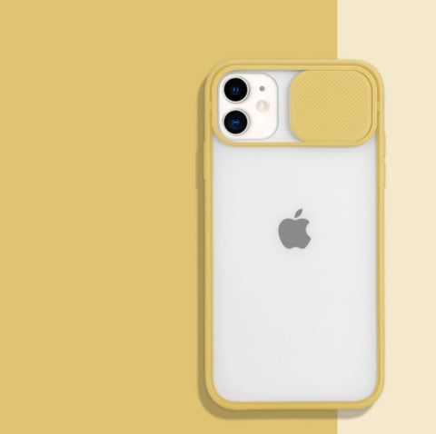 """alt=""""Ginger/Yellow PastelO TPU Case with Lens Protection for iPhone 6 6S Plus 7 8 X XS Max XR 11 Pro SE 12 Mini"""""""