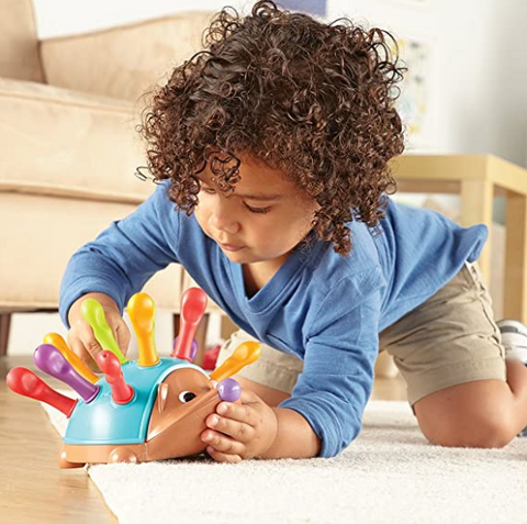 """alt=""""Spike Stacking Fine Motor Sensory Skill Toy for Toddlers Babies"""""""