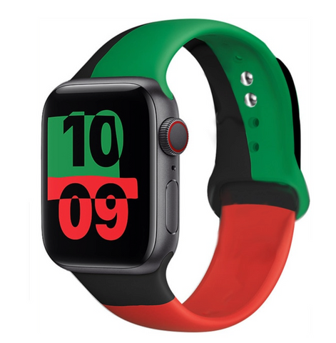 """alt="""" Black Unity The UnD Unity Accessories Silicone Watch Band for Apple Series 6 SE 5 4 3 2 1"""""""