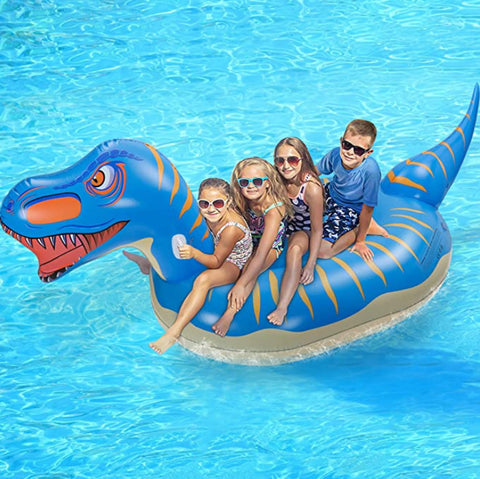 """alt=""""Aquabuoy T Rex Pool Inflatable Float Dinosaur (110 inches long) for Kids & Adults"""""""