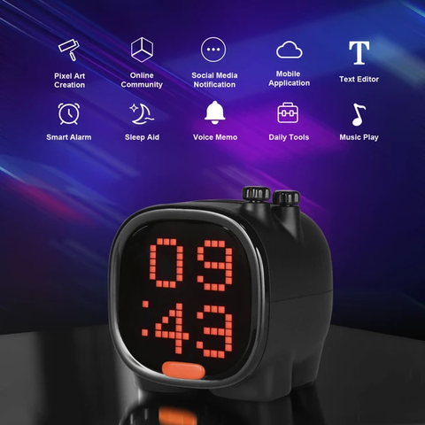 """alt=""""Features of LED Alarm Clock with Bluetooth Speaker Internet Radio SD Card Support & Sleep Aid for Kids"""""""