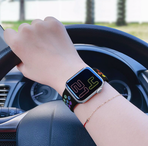 """alt=""""The Black ProudRainbow Pride Accessories LGBT Rainbow Apple Watch Band Strap"""""""