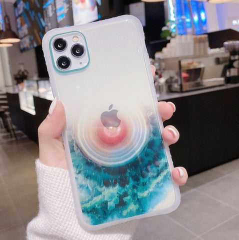 """alt=""""Crater Lake Whirlpool Earthues Soft TPU Case for iPhone 6 6S Plus 7 8 X XS XR Max 11 Pro SE 2020"""""""