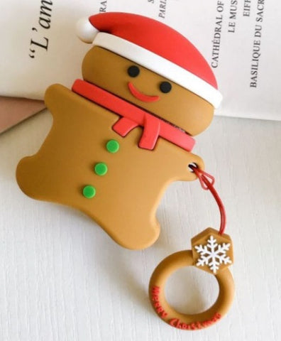 """alt=""""Gingerbread Man from Xmasy Silicone Case Cover for AirPods 1 2"""""""