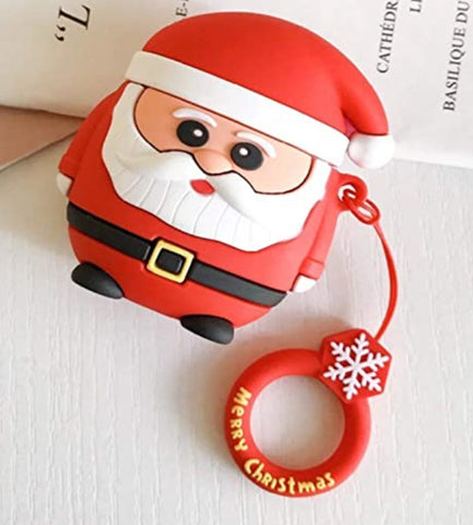 """alt=""""Grumpy Santa from Xmasy Silicone Case Cover for AirPods 1 2"""""""