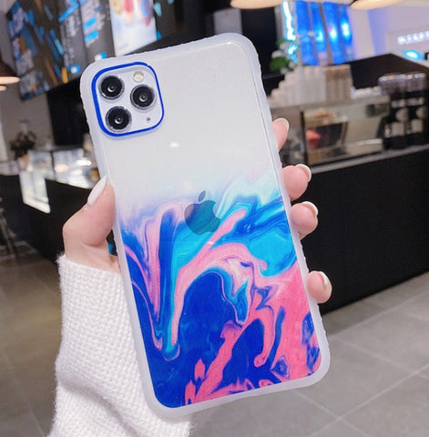 """alt=""""Lake Hillier Earthues Soft TPU Case for iPhone 6 6S Plus 7 8 X XS XR Max 11 Pro SE 2020"""""""