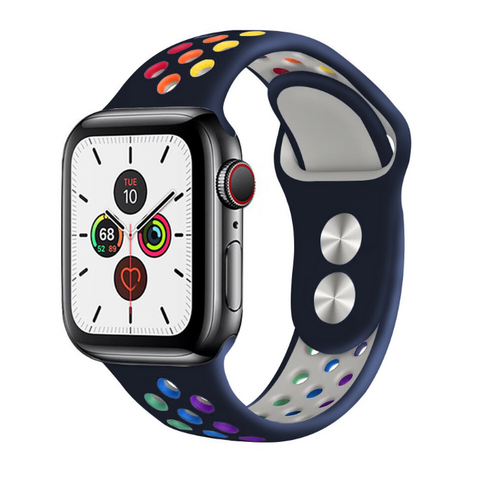 """alt=""""The Midnight Blue ProudRainbow™ Pride Accessories LGBT Rainbow Apple Watch Band Strap"""""""
