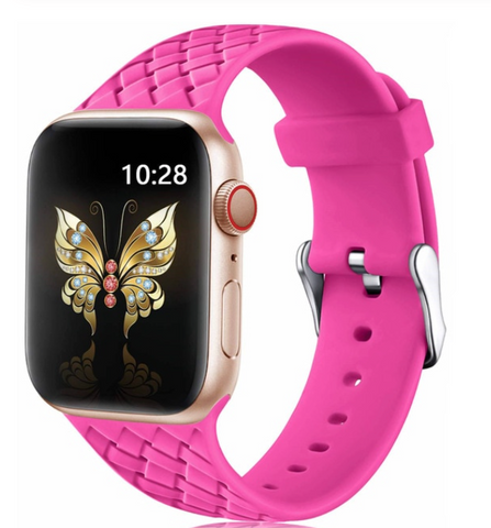 """alt=""""The Pink PastelO™ New Silicone Sport Band Strap for Apple Watch"""""""
