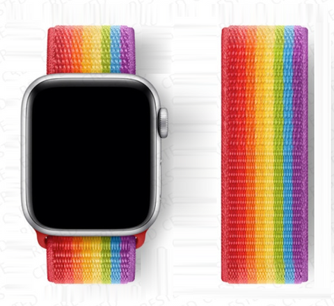 """alt=""""ProudRainbow Pride LGBT Rainbow Watch Band 2021 for Apple Series 6 SE 5 4 3 2 1"""""""