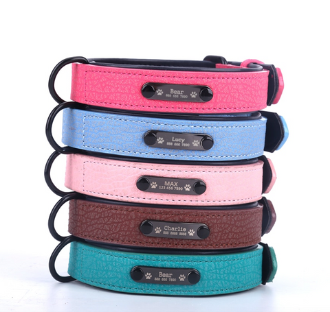 """alt=""""All Color available in WagTagg Custom Engraved Noiseless Cat & Dog ID Name Tag with Collar"""""""
