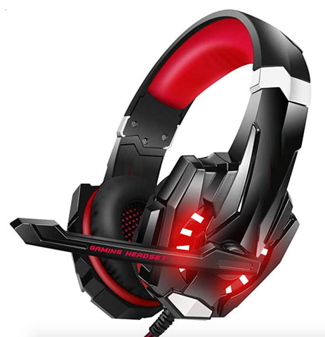 """alt=""""The Red RhythmAir™ Stereo Gaming Headset with Mic Noise Cancellation"""""""
