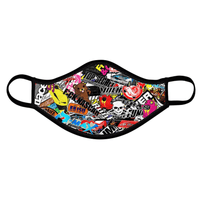 JDM Sticker Bomb Face Mask - Shift Royal