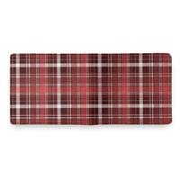 Red Plaid Leather Wallet - Shift Royal