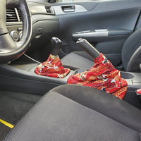 Red Koi Fish Seigaiha Shift Boot | Handbrake Boot - Shift Royal