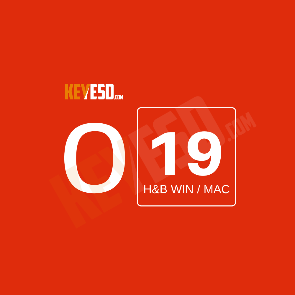 Microsoft Office 2019 Home and Business WIN / MAC Key Esd [Global] - keyesd