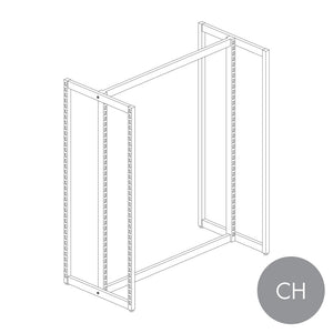 MAXe H frame gondola 1200 bay & 2 x 600 mm end bays - 1480 mm H