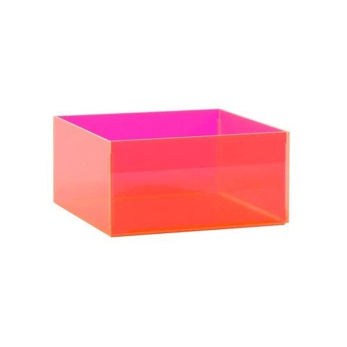 Acrylic container square 200 x 200 x 100 mm H