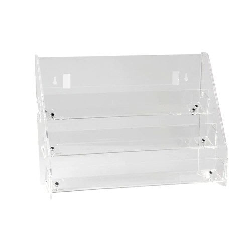 3 tier card unit - can be mounted on slatwall 445 mm 445 W x 145 D x 310 mm H