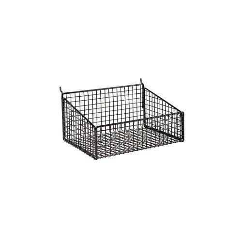 Slatwall mesh basket with low front 250 W x 185 D x 125 mm H
