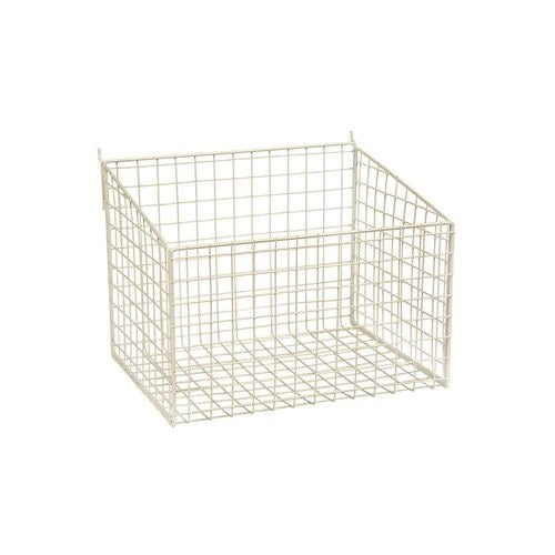 Slatwall mesh basket with low front 345 W x 260 D x 250 mm H