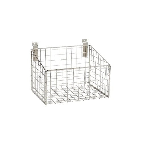 Slatwall mesh basket with low front 293 W x 220 D x 200 H