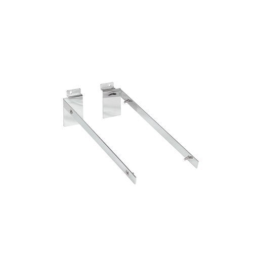 Slatwall angle bracket set 18 mm x 300 mm D shelf 300 D x 18 H x 2.5 mm Thick