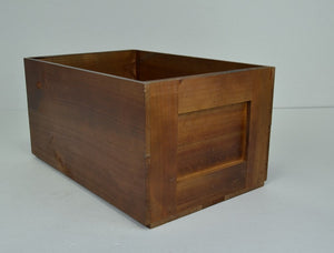 LARGE CRATE DARK STAIN